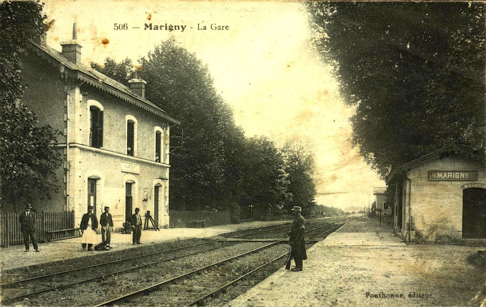 Marigny les Usages La gare